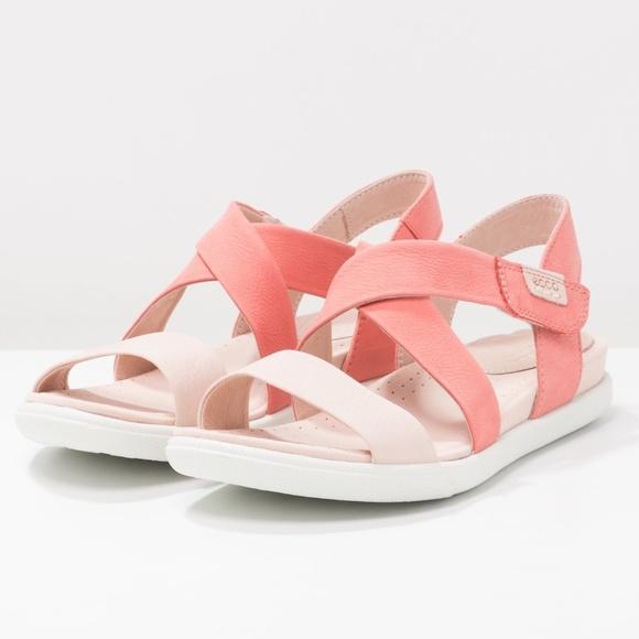 d431006f4deb NWT ECCO Damara Sandals Rose Dust Leather Shoes 
